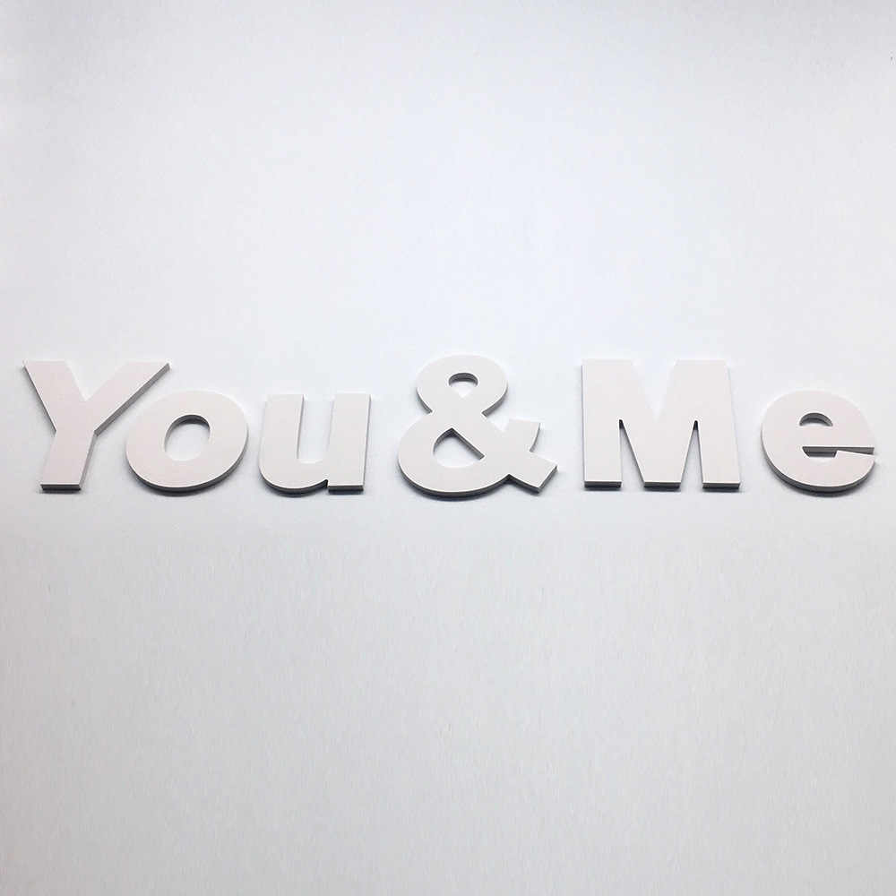 DIY Creative 3D Lowercase English Letter White Wall Stickers Living Room Bedroom Background Wall Home Decor PVC Wall Sticker