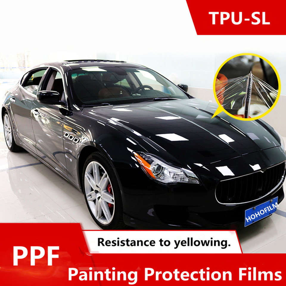 Car Paint Protection >> Self Healing Tpu Material Ppf Vinyl For Car Paint Protection Film Best Transparent Ppf Size 1 52 15m Roll High Quality Series