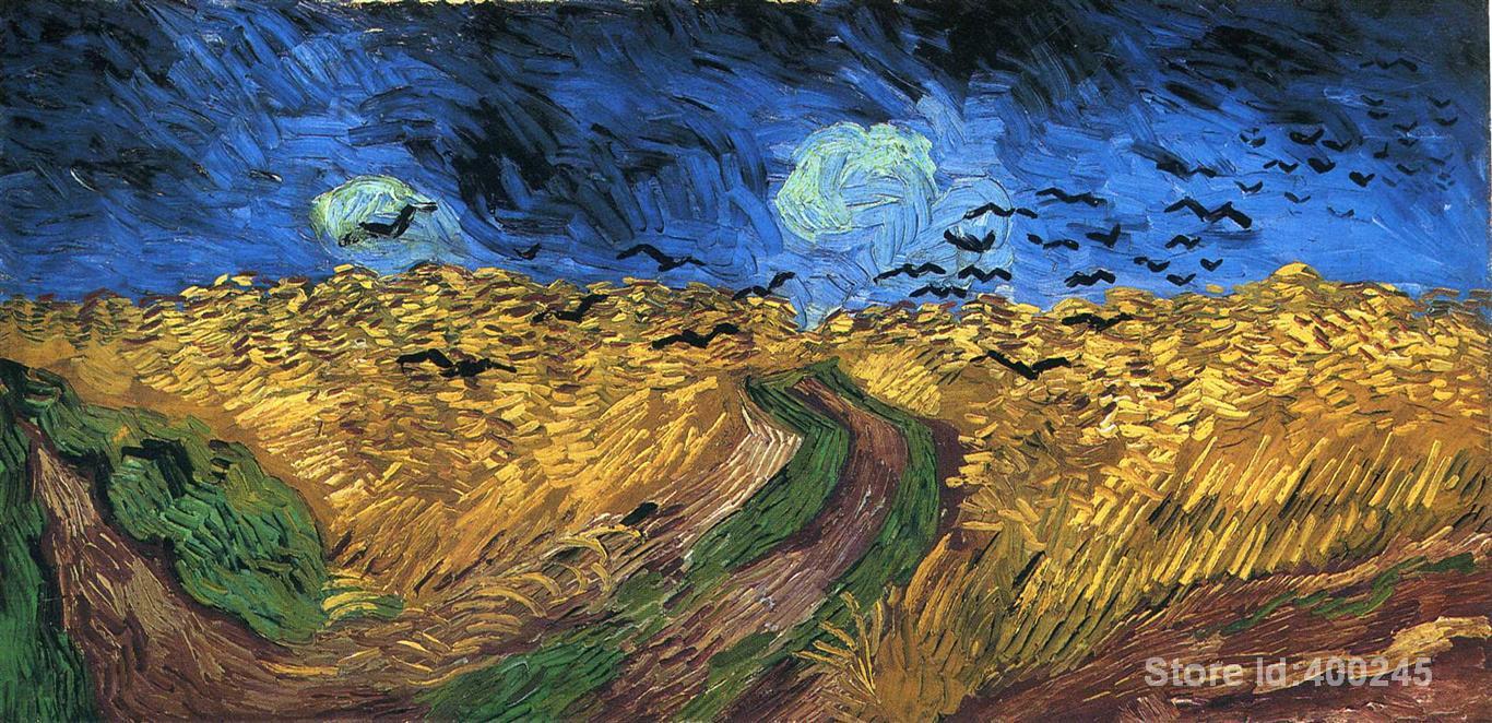 Best Книги по искусству воспроизведение пшеничное поле с воронами Винсент Ван Гог живопись для продажи ручная роспись высокое качество