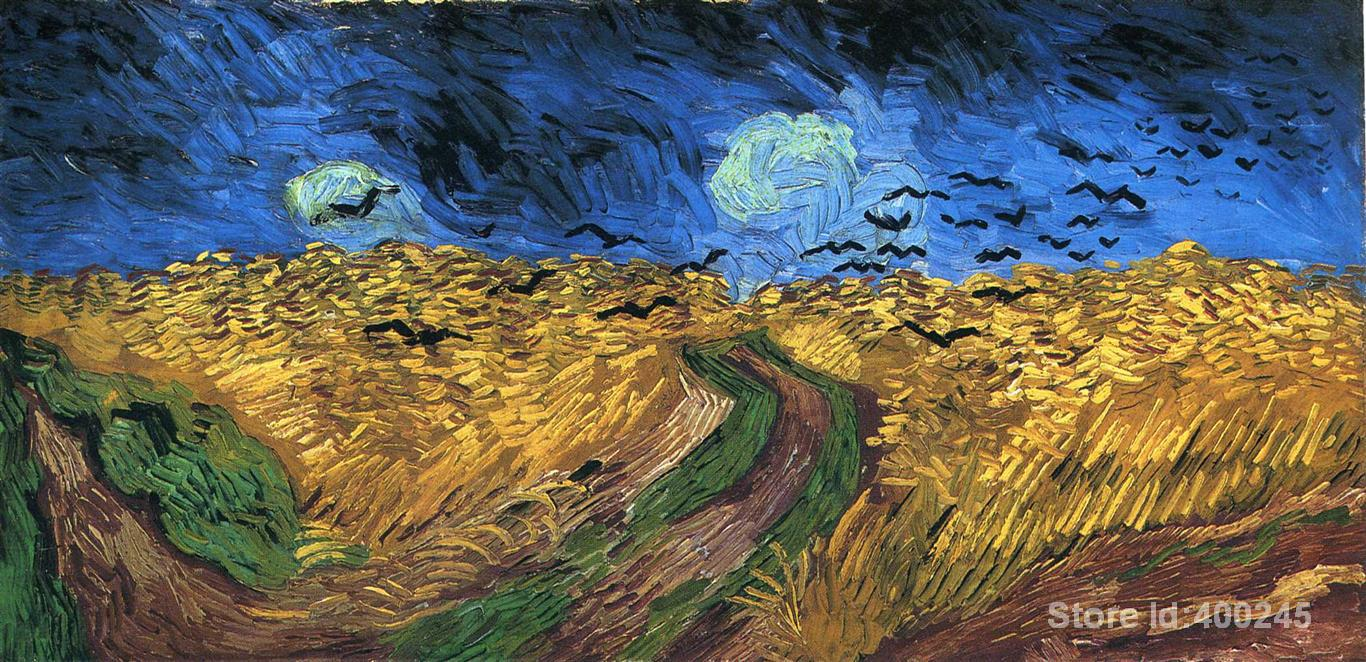 Best Art Reproduction Wheat field with Crows Vincent Van Gogh Painting for sale hand painted High quality