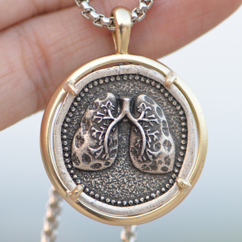 Anatomically Human Lungs Necklace Anatomy Lung Pendant Biologist Doctor Medical Jewelry A278