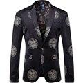 2016 Impreso de Los Hombres Blazers Moda Casual Hip Hop Urbano Estilo Clásico Blazers T0092