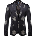 2016 Printed Men Blazers Fashion Casual Hip Hop Urban Style Classic Blazers T0092