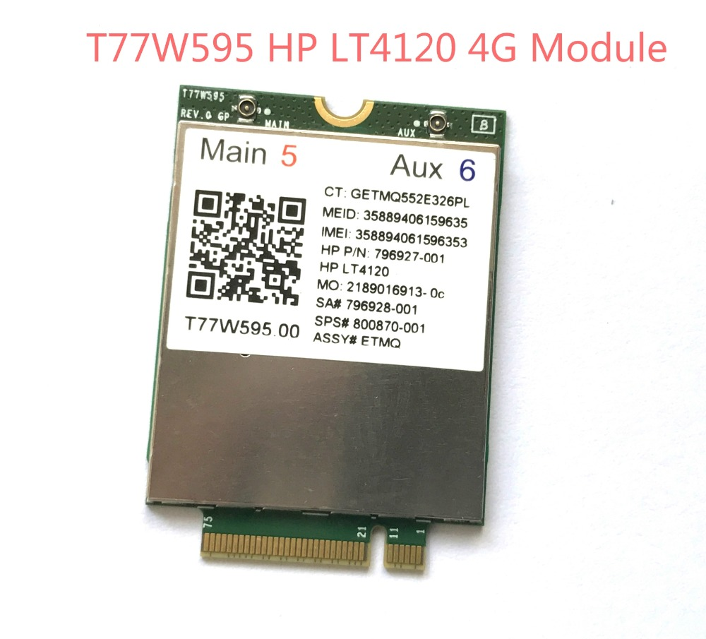 lt4120 Snapdragon X5 LTE T77W595 796928-001 4G WWAN M.2 150Mbps LTE Modem For HP Elite x2 840 850 G3 640 650 645 G2 цена 2017