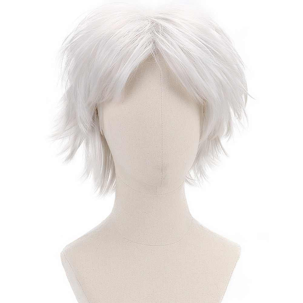 Комедия X для мужчин Storm Mystique Rogue короткий прямой белый косплей синтетические волосы парики для женщин девочек костюм для вечеринки Хэллоуин