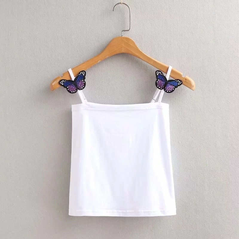 Women high quality Sexy butterfly Tube Crop Tops Bling Camis Sexy bow tie tank vests Crop Tops camisoles & tanks clothes women