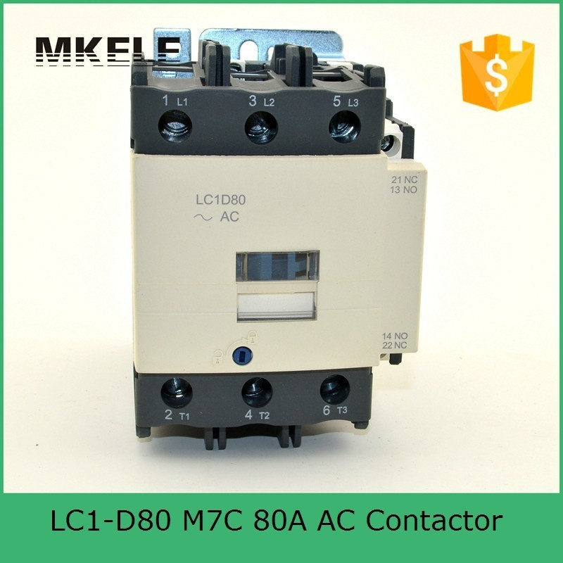 80 amp LC1-D80 M7C electromagnetic contactor 220V single phase contactor price with 85% silver contacts with high quality sayoon dc 12v contactor czwt150a contactor with switching phase small volume large load capacity long service life