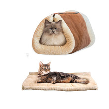 2016 Newest 2 in 1 Tube Cat Mat and Bedhouse Pets Beds Soft House For Pet Accessories