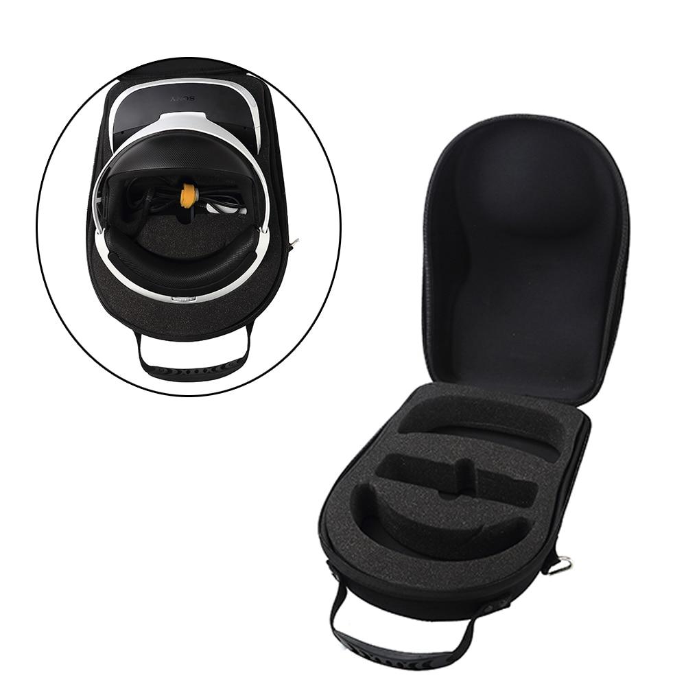Tüketici Elektroniği'ten VR/AR Gözlük Aksesuarları'de 2020 yeni sert depolama seyahat taşıma kutusu kapak çanta kılıf Sony Playstation 4 PS4 VR (PSVR) sanal gerçeklik kulaklık title=