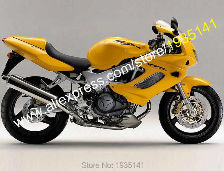 Hot Sales,ABS Body Kit For Honda VTR1000F 1997-2005 VTR 1000F 97 98 99 00 01 02 03 04 05 Yellow Aftermaket Motorcycle Fairing рычаги тросики и кабели для мотоцикла rctoper honda vtr1000f firestorm 98 99 00 01 02 03 04 05