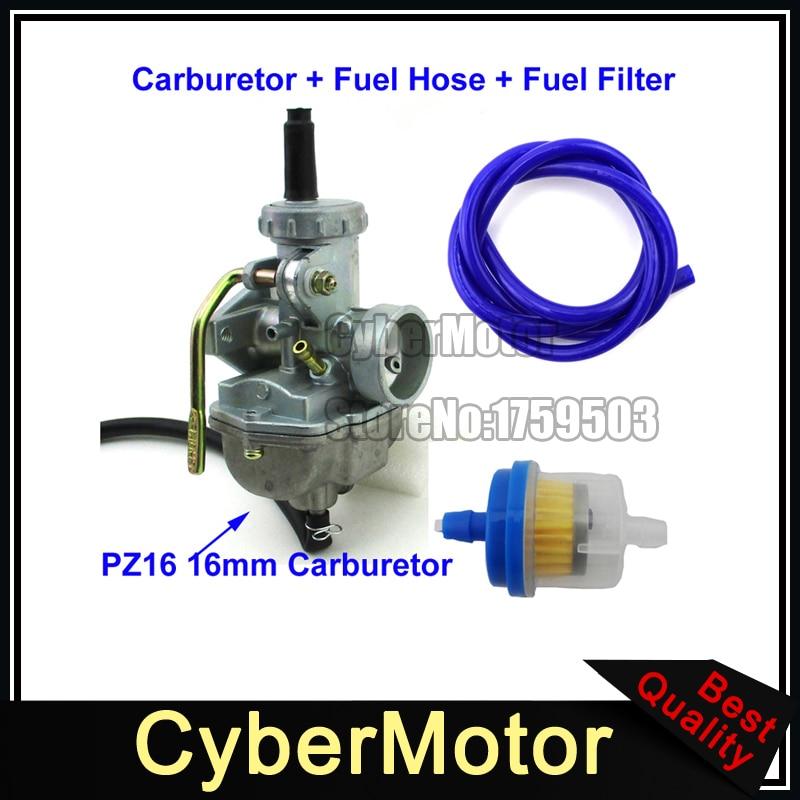 Motorcycle Carburetor Carb For 50cc 70cc 90cc 110cc 125cc 135. Pz16 Carb 16mm Carburetor Fuel Hose Filter For 50cc 70cc 90cc 110cc Engine Quad ATV Dirt. ATV. 110cc Chinese ATV Fuel Line Diagram At Scoala.co