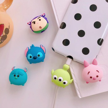 Cute Cartoon Phone USB cable protector for iphone cable chompers cord animal bite charger wire holder organizer protection vacation