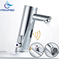 Bathroom Automatic Sensor Faucet Brass Chrome Finish Hands Touch Free Faucet Bubble Water Mixer Tap