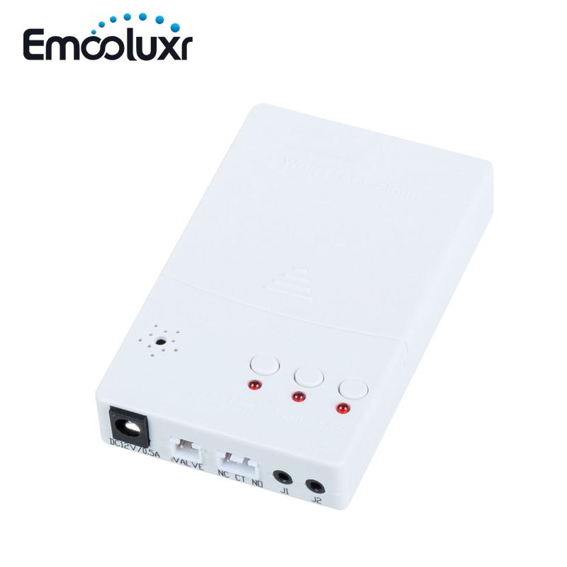 ЕС/США адаптер питания проводной датчик утечки воды сигнализация обнаружения утечки воды с 3/4 клапаном и 2 шт чувствительный датчик воды провод - 2