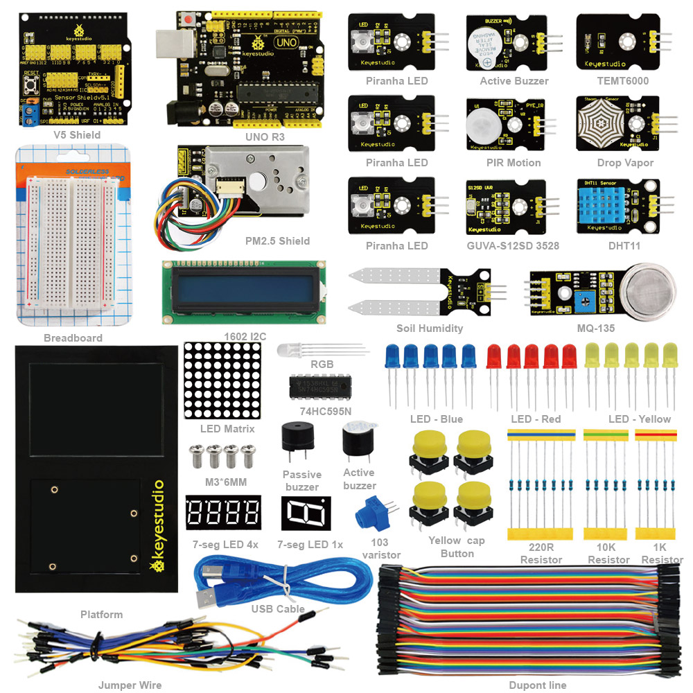 Environment Monitoring PM2 5 Kit for Arduino Education