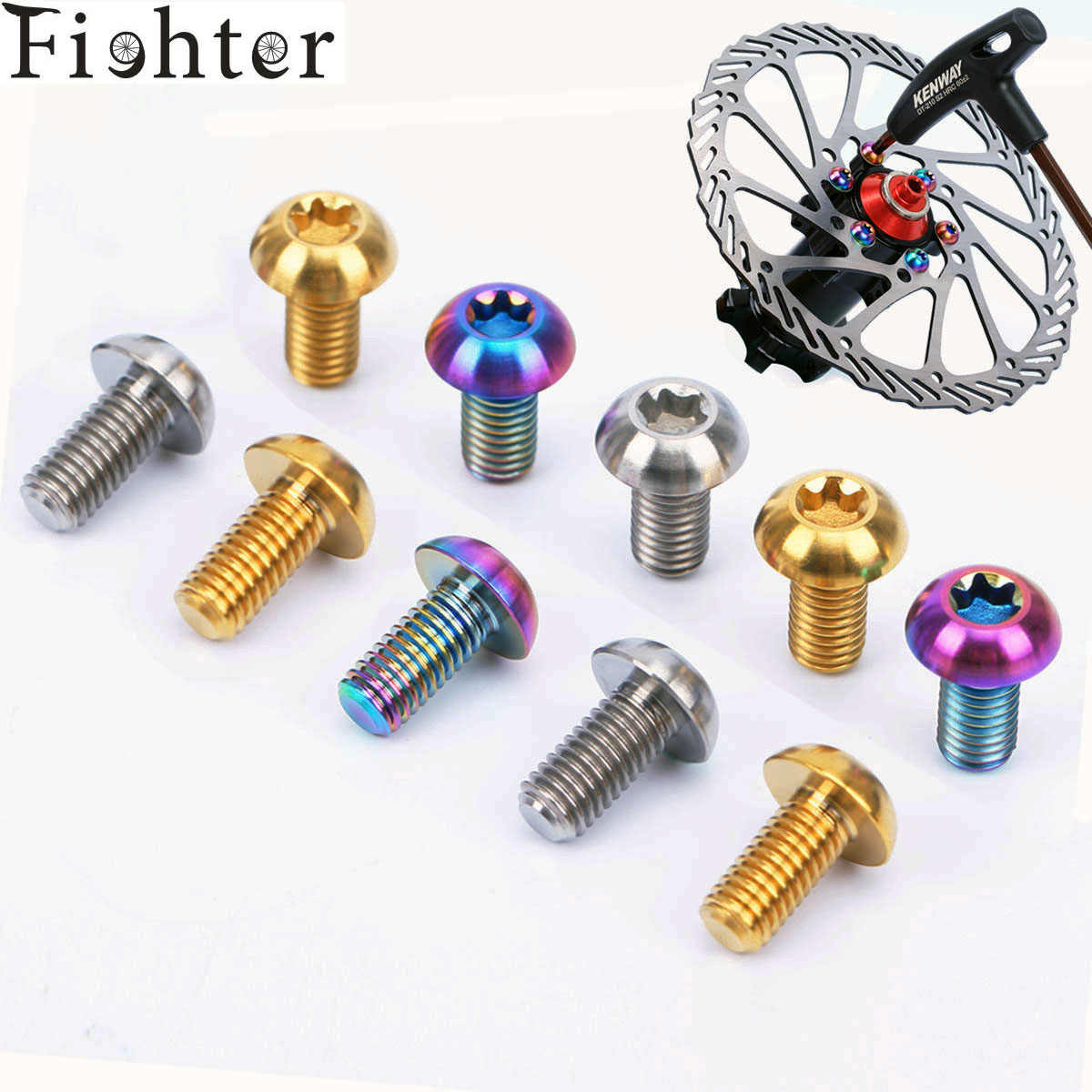 Lots New M5 x 10mm Disc Brakes Rotor T25 Torx Bolts Screw For MTB Bicycles H/&P