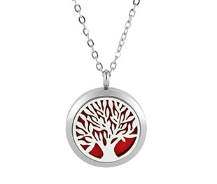 tree of life diffuser necklace silver gold rose gold 20mm 25mm 30mm locket jewelry (5)