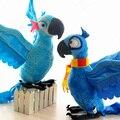 Envío Libre Rio 2 unids Blu y Jewel Juguete de Felpa Del Pájaro del Loro canarias Peluches Para Niños Regalos Juguetes De Pie Alto 28 cm T001