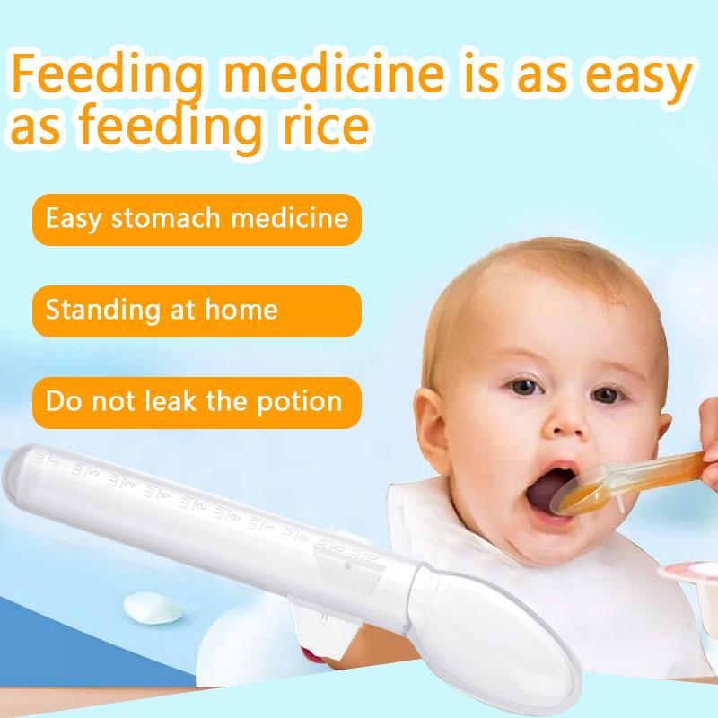 Детская ложка, дозатор для лекарств, ложка для кормления, товары для здоровья, весы для сока, умные ложки для кормления ребенка, капельница, Сейф