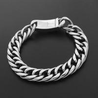 Retro Stainless Steel Men Chain Bracelet 316l Titanium Steel Hip Hop Jewelry Hand Chain Bracelet VCOOL