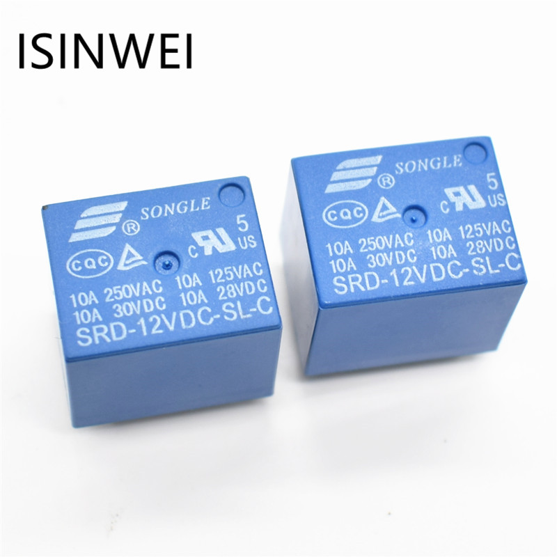 цена на Relays SRD-12VDC-SL-C PCB Type 12V DC SONGLE Power Relay