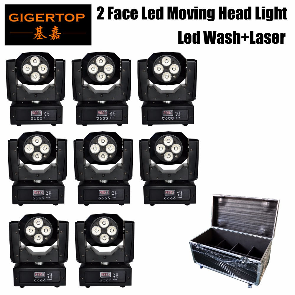 8IN1 Road Case Double Face Mini Led Moving Head Light With Laser Function Ultimated Tilt Rotation Tyanshine 5in1 Color Lamp