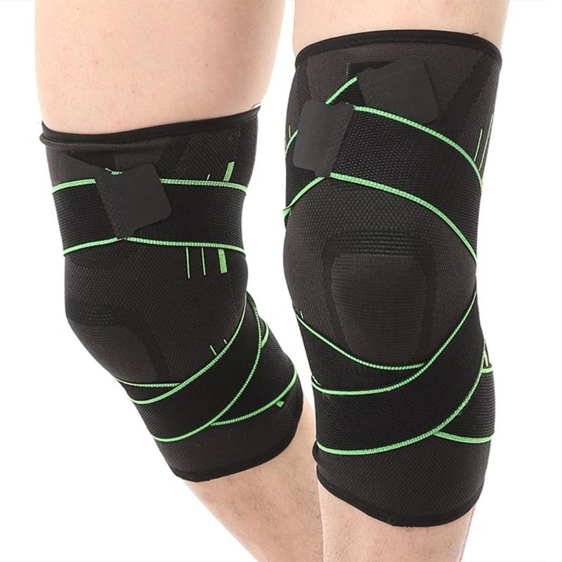 1pc Knee Sleeve Fitness Sports Running Cycling Bandage Elastic Leg Protective Pad Knee Protector Braces Compression Pad Sleeve in Elbow Knee Pads from Sports Entertainment
