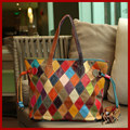 Nuevo 2015 europa y américa del estilo del cuero genuino del bolso de hombro femenino del zurriago mujeres messenger bags estilo retro bolsas