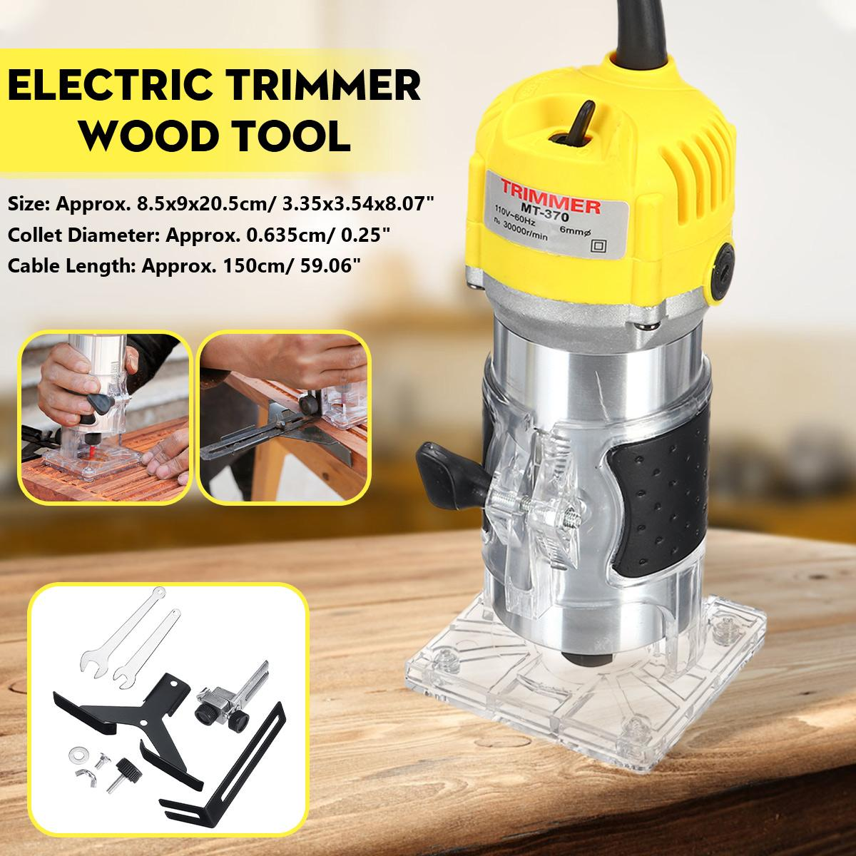 2200W Electric Hand Trimmer 6.35mm Laminate Palms Wood Router Trimming Cutting Carving Machine Woodworking Power Tool 110V 220V