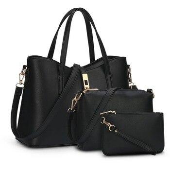 3 pcs/Sets Hot Sale Handbags New European And American Designer Brand Women Shoulder Bag Handbag Large Crossbody Clutch