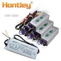 Alta potencia LED controlador 10W 20W 30W 50W 100W transformadores de iluminación a prueba de agua IP67 fuente de alimentación Diy Spotlight fuente de entrada de salida