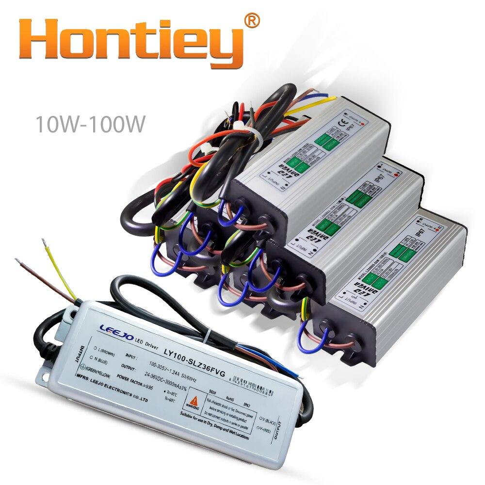 Controlador LED de alta potencia 10W 20W 30W 50W 100W transformadores de iluminación a prueba de agua IP67 fuente de alimentación Diy fuente de luz Salida de entrada Hontiey, Cuenta de luz LED 60 75 90 150 180 200 250 300 W, Chip blanco especial para arquitectura escénica, proyector de bombilla luminosa