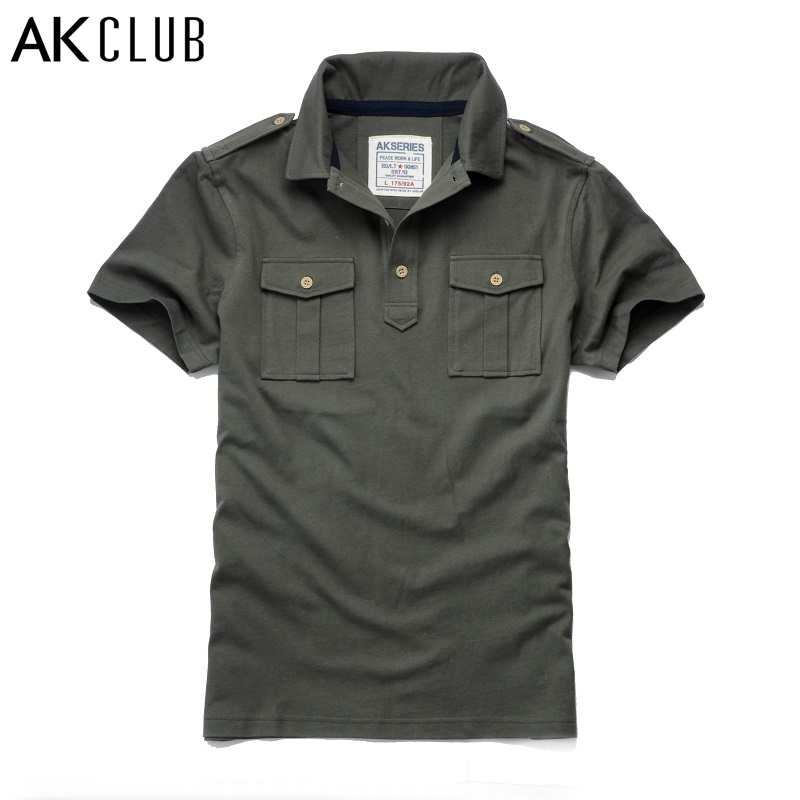 Ak club brand polo shirts 100 cotton polo shirt new for Polo shirts with pockets 100 cotton