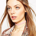 Freeshipping Para Mujer de Terciopelo de Imitación de Perlas Encanto Colgante Gargantilla Collar Gótico Retro Hecho A Mano Joyería de La Alta Calidad