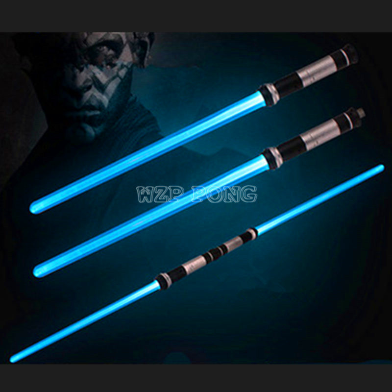 2 Pcs/set Lightsaber Toys Saber Adjustable Laser Sword Light Up Led Flashing Double Light Saber Toy Sword Boys Christmas Gifts