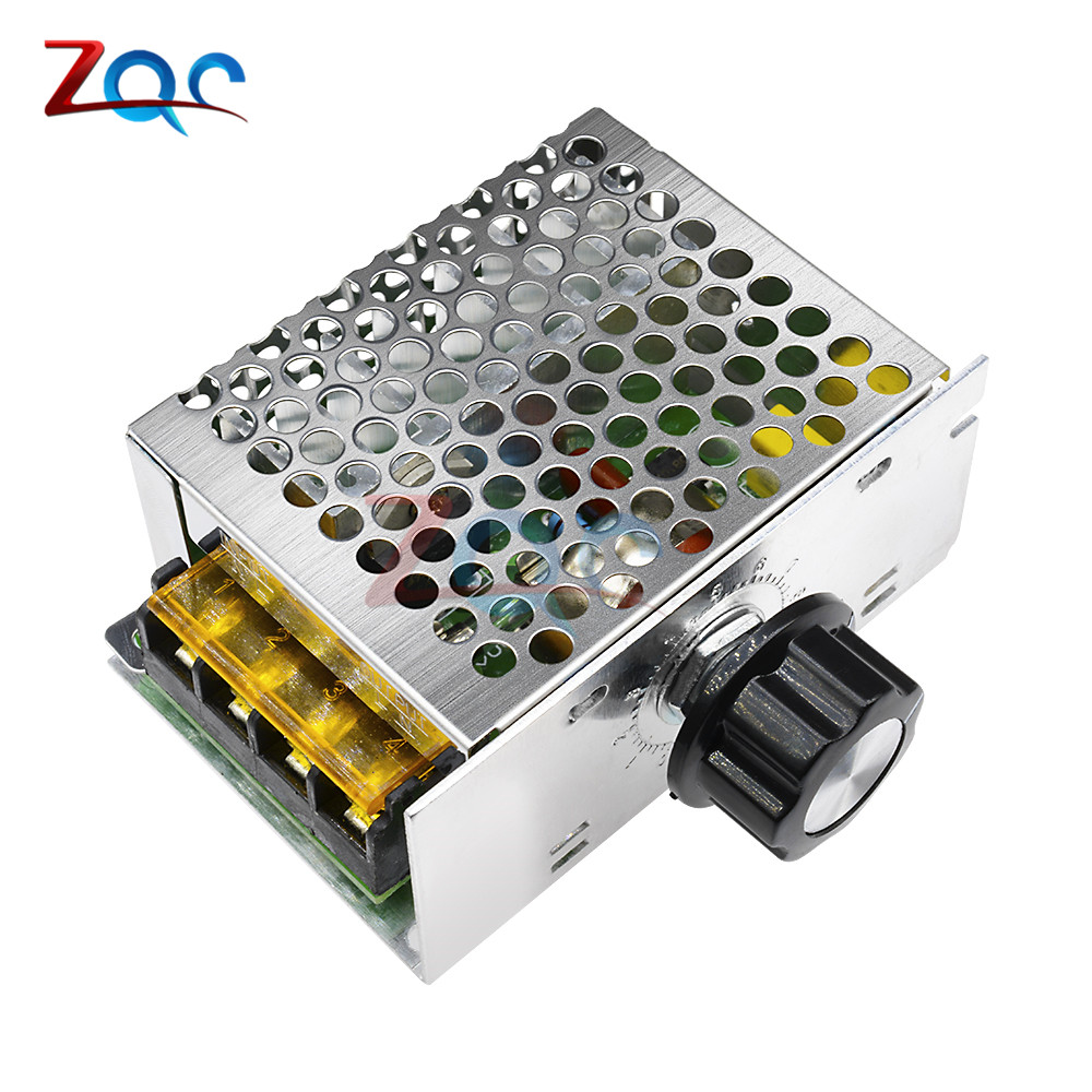 4000W 220V AC SCR Voltage Regulator Motor Speed Controller Control Dimming Dimmers Thermostat Import High-power цена 2017