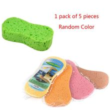 5 Pcs 8 Word Shape Car Wash Sponge Kitchen Dishwashing Pot Cleaning Tool Waxing Vacuum Compression Coral