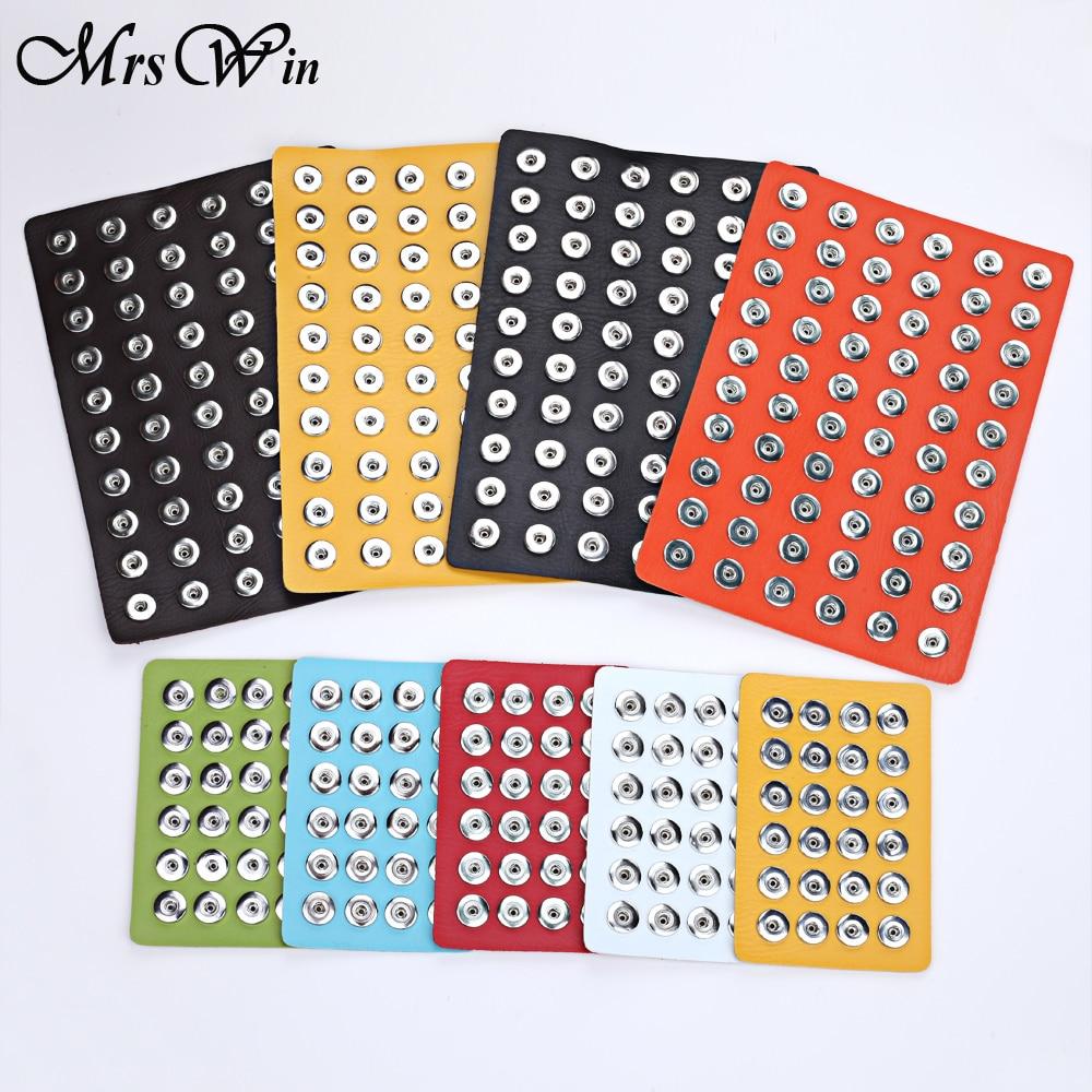 Snap Button šperky Originální kůže 18mm Snap Display pro 60ks a - Bižuterie