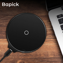 Bapick 5W Qi Wireless Charger for iPhone 6 8 7 Plus X Xs MAX XR Charging for Samsung S8 S9 S10 Plus Note 8 Phone USB Charger Pad phone camera lens 9 in 1 phone lens kit for iphone x xs max 8 7 plus samsung s10 s10e s9 s8