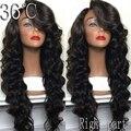 150 плотность девственные волосы бесклеевого полный парик шнурка тела глубокая волна кружева перед парик полный шнурок человеческих волос парик для чернокожих женщин у части парик