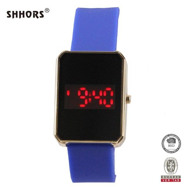 3d801033 SHHORS horloges vrouwen для отдыха модные спортивные часы LED Watch  цинковый сплав силиконовый чехол Наручные часы