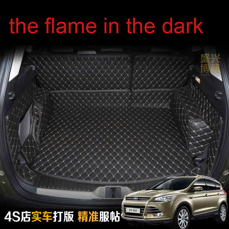 custom fit pu leather car trunk mat cargo mat for ford kuga escape 2nd generation 2012 2013 2014 2015 2016 2017 cargo liner car rear trunk security shield shade cargo cover for ford kuga escape 2013 2014 2015 2016 black beige