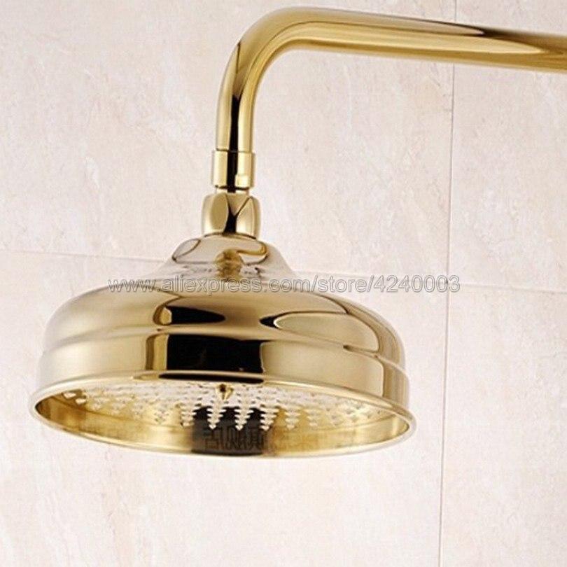Gold Color Brass Shower Head Over-head Shower Sprayer Top Shower Head Ksh009