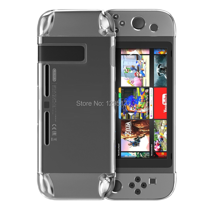 Joy-con Protective Hard Case Cover Transparent Shell Tempered Glass Screen Protector for Nintend Switch Console Game Accessories