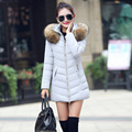 ¡ Caliente! 2016 Nuevo Otoño caliente de Moda mujer chaqueta de Invierno de Las Mujeres abrigo grueso abrigo con capucha mujeres delgadas parka para mujer abajo chaqueta