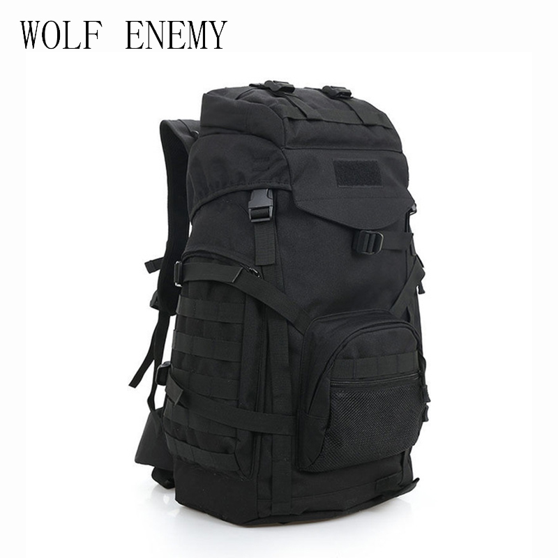 Molle 60L Camping Rucksack Tactical Military Backpack Large Waterproof Backpacks Camouflage Hiking Outdoor Shoulder Bag camouflage outdoor bag military army tactical backpack large rucksack mountaineering bag for camping hiking