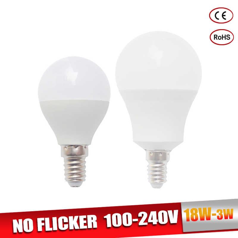 LED Bulb E27 Real Power LED Light Bulb B22 3W 5W 7W 9W 12W 15W 18W 220V LED Lamp E14 Lampada Ampoule Bombilla For Table Lamp
