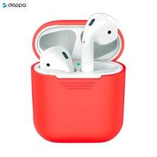 Силиконовый чехол для AirPods, красный, Deppa