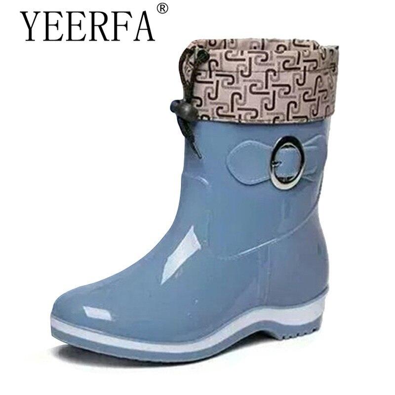 font b Rain b font font b Boots b font Rubber Women Ankle font b