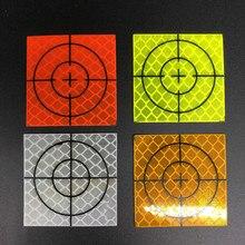 1000 шт. отражающий лист с алмазным уровнем, отражающая Целевая лента, общая станция, красный, белый, зеленый, желтый цвет, 40x40 мм